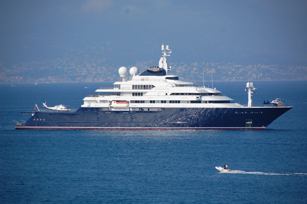 One of the 20 largest yachts in the world, Octopus is Paul Allen's latest ride.