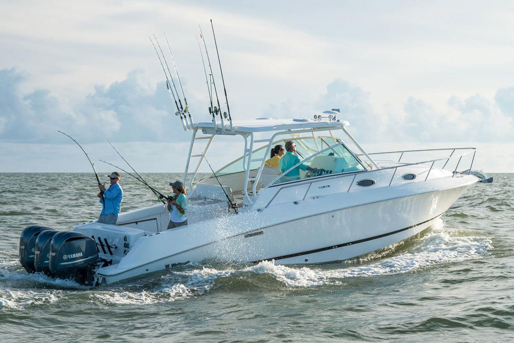 Yes, the Wellcraft 340 Coastal is a fishing boat, but it supports a substantial cuddy cabin.