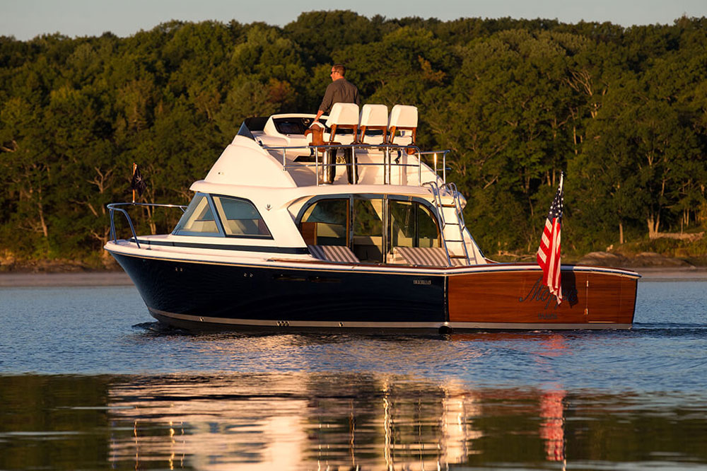 The new Bertram 35 presents a mix of classic looks on the outside and modernity on the inside.