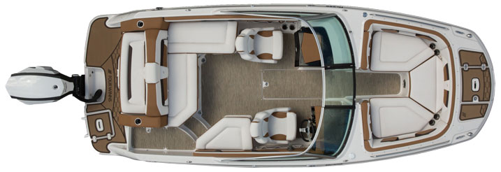 Whether you choose a stern drive or an outboard, the boat's essential layout remains the same.