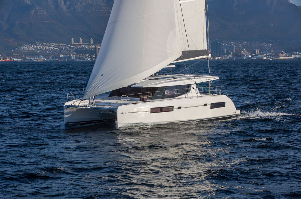 Sailors visiting the Fort Lauderdale Boat Show will want to take note of the Leopard 45 sailing catamaran.