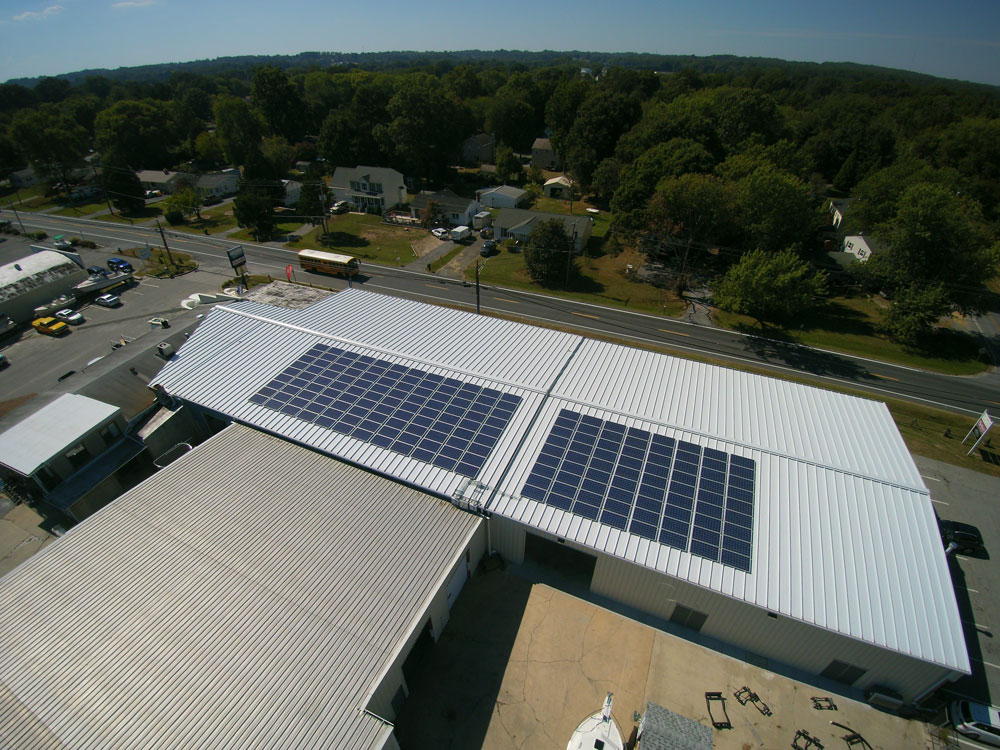 The solar panels gracing its roof are only part of the way that Tri-State Marine is pioneering environmental responsibility in a boat dealership.
