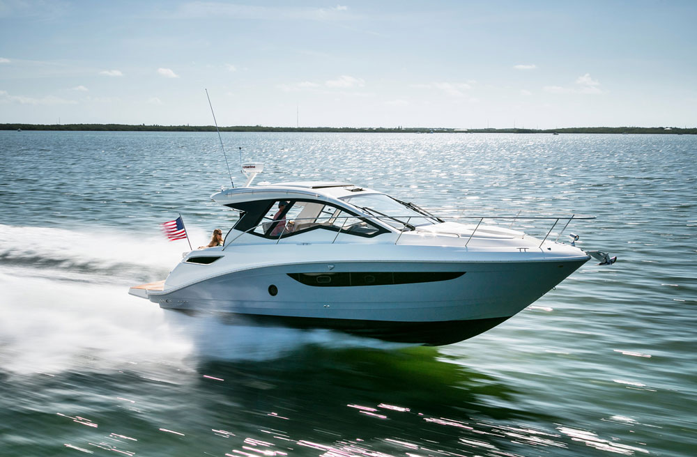 sea ray 350 slx running