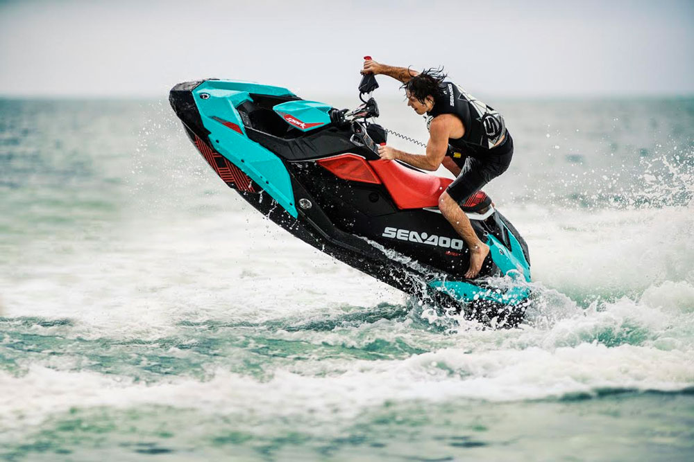 Deliberately playful, the new Sea-Doo Spark Trixx ($7,299) is designed not for speed, but for freestyle fun.