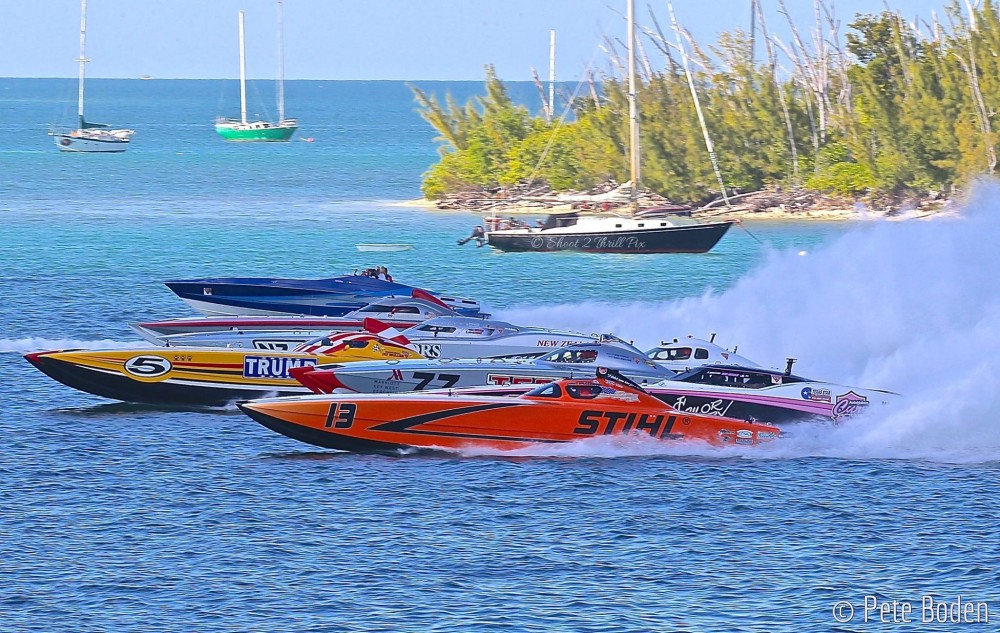 With 10 teams competing in three races during the week, the Superboat class provided the most compelling competition during the 2016 SBI Offshore World Championships. Photo by Pete Boden/Shoot 2 Thrill Pix.
