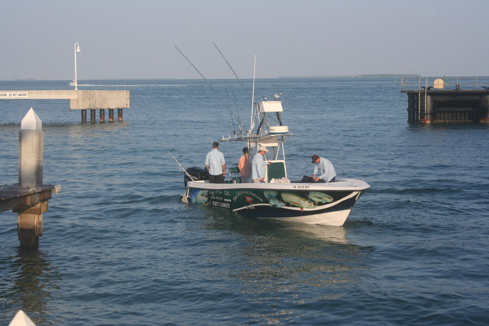 Leave the harbor at Key West, and there's excellent fishing in every direction. Actually, there's pretty good fishing right in the harbor, too.