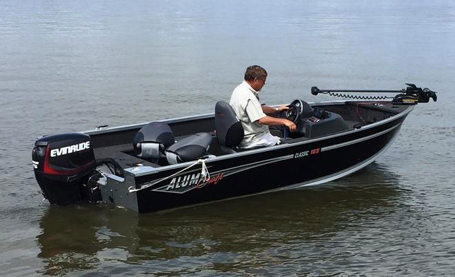 The 16' long AlumaCraft we ran the 60 H.O. on was a small load, for the big torque and power this two-stroke outboard delivers.