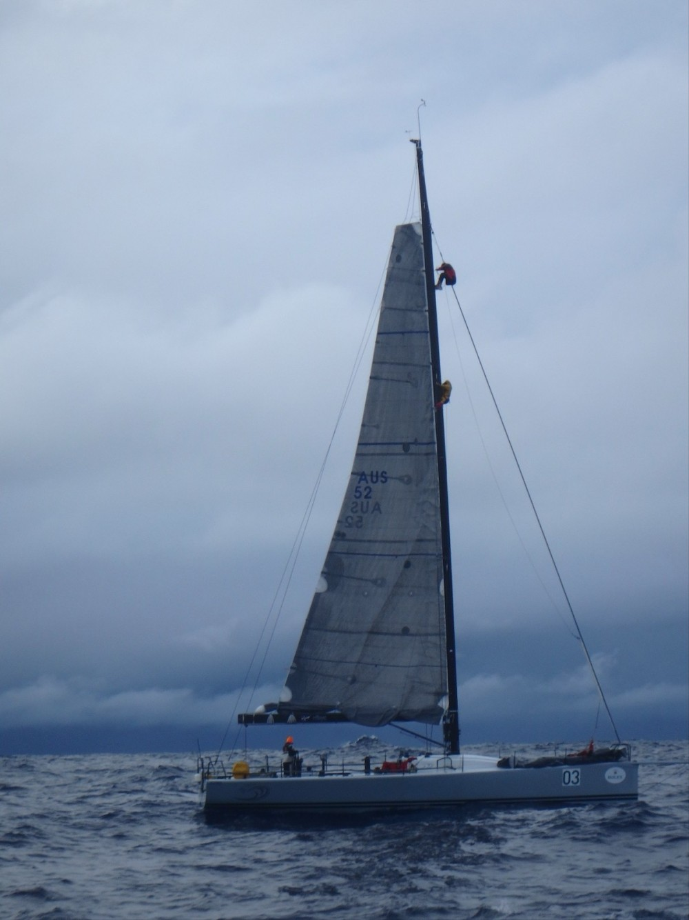 As a crewman in the Clipper Round The World Race, Gavin Reid swam to a stricken yacht and is shown here climbing the mast to help a crewman return safely to the deck.