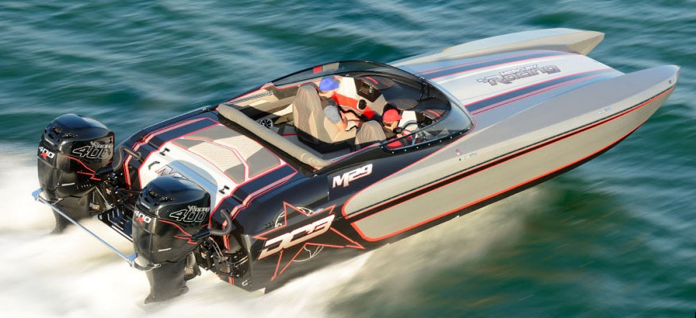 Skater 318 and dcb m29 sport catamaran win win for 400 hp boat motor price