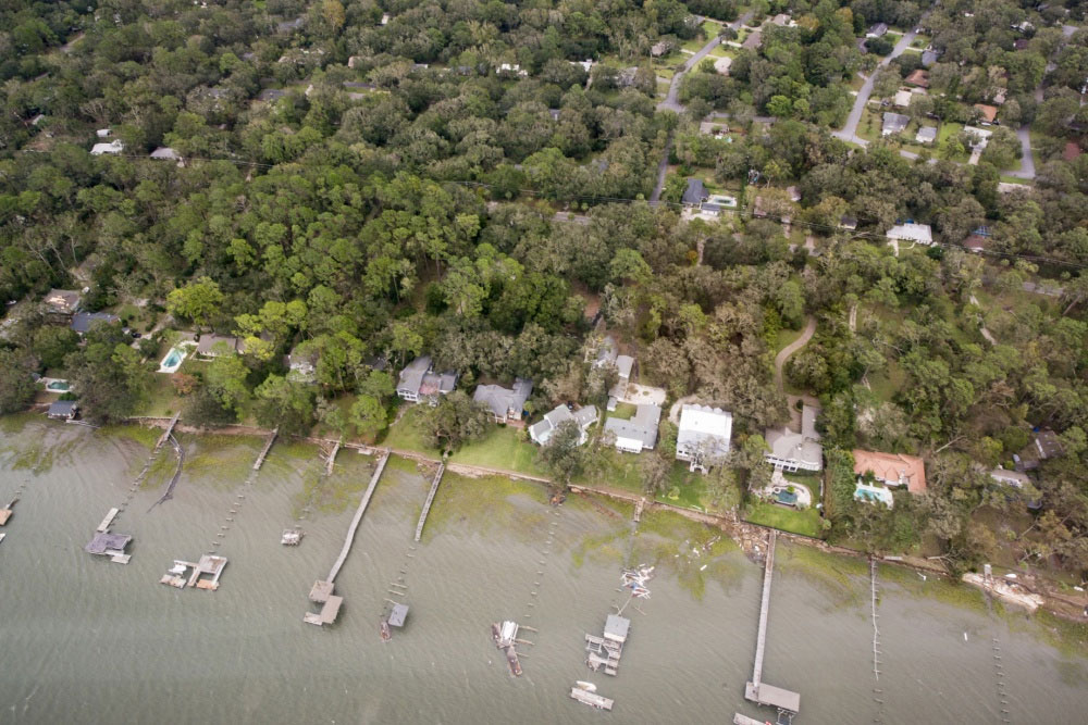 Georgia was hard hit by Matthew, and coastal areas saw significant damage. Photo courtesy of the USCG.