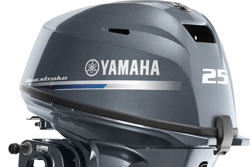 "Offered in 15"" and 20"" lengths, there are eight variations of the new Yamaha F25 outboard."
