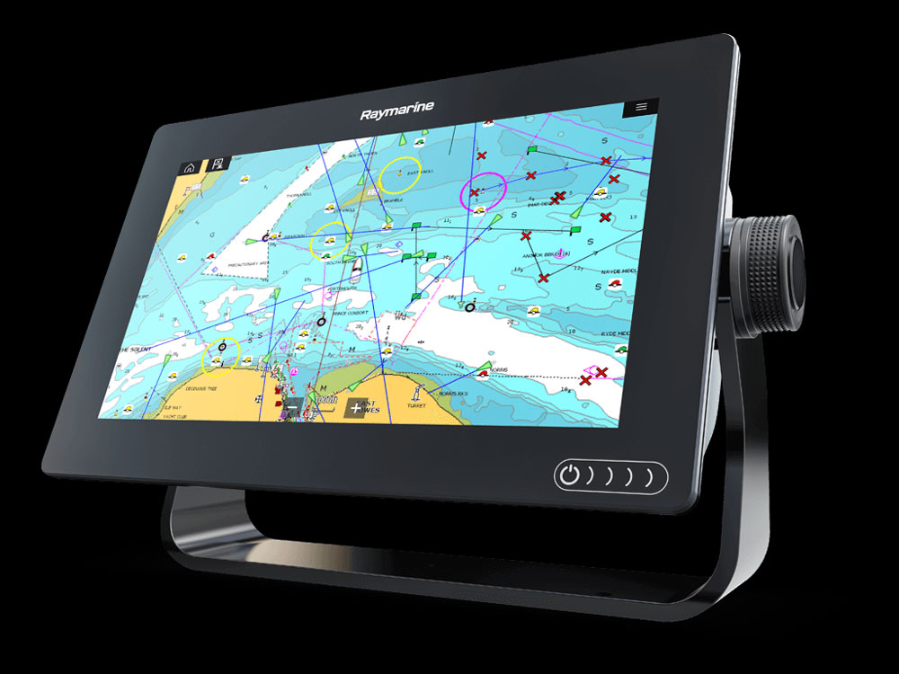 The Axiom line from Raymarine is a touch-screen MFD (separate keypads are available) which brings in some serious new tech at a surprisingly low cost.