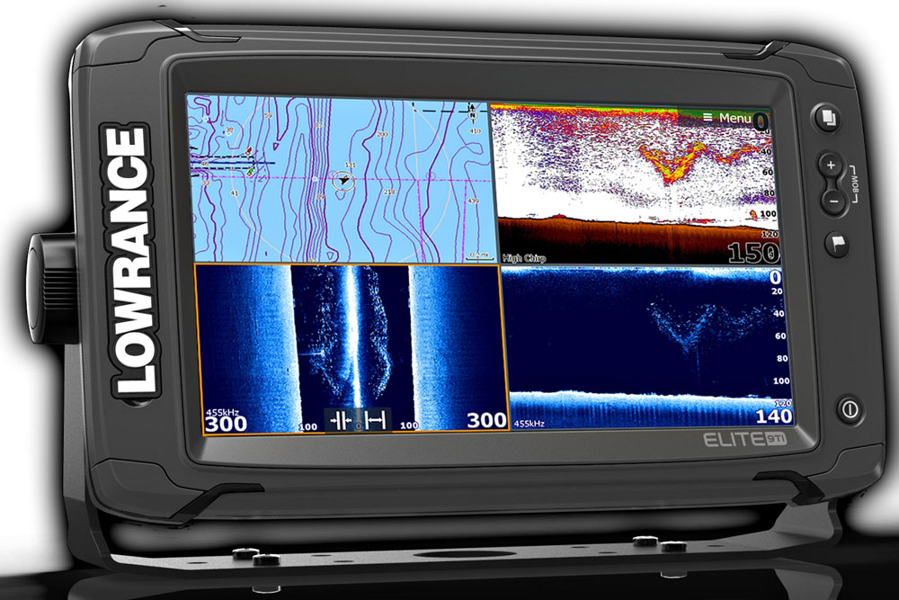 Nine inches of LCD beauty and a ton of serious capability can be found in the Lowrance Elite 9Ti—despite the unit's low price tag.