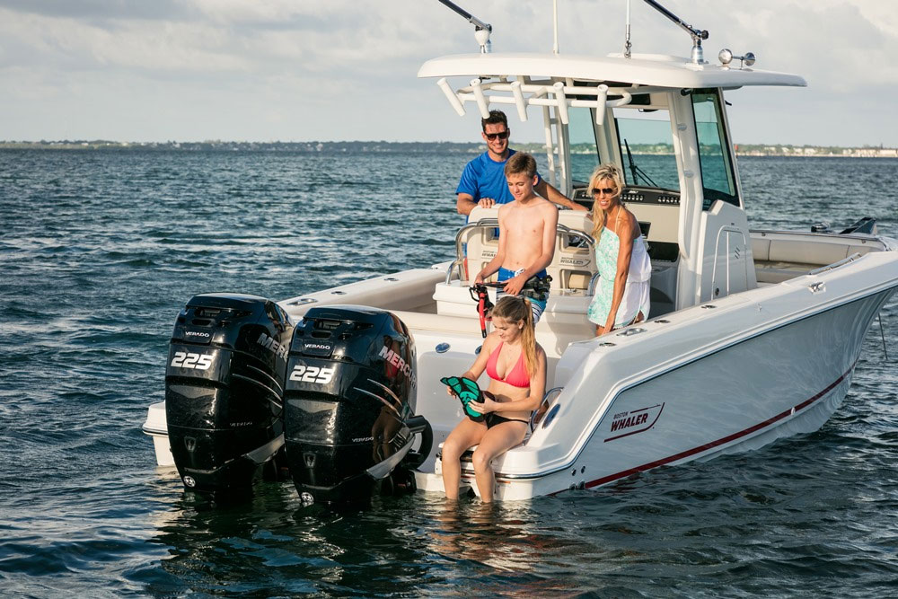 Whether serious fishing or family play is in the plans, the 250 Outrage has the extra space and beef to feel like a much bigger boat.