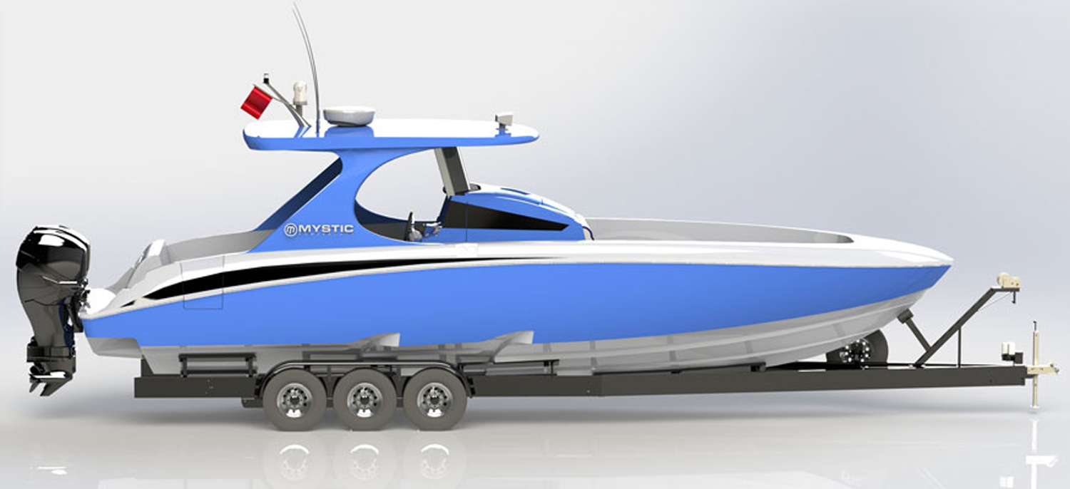 The M3800 takes hull design and styling cues from the M4200.
