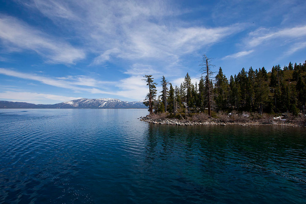 Lake Tahoe is known for its deep blue clear water, which boasts visibility of up to 75 feet. Photo by Laura Farhadi.