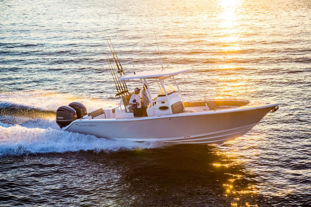 The Sportsman Open 282—ready to take you to where the big fish swim.