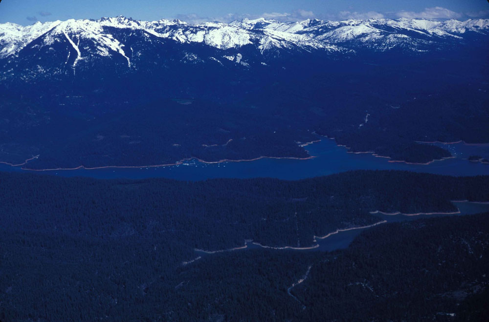 Not far west of Shasta lies Trinity Lake, also well known for its recreational opportunities.