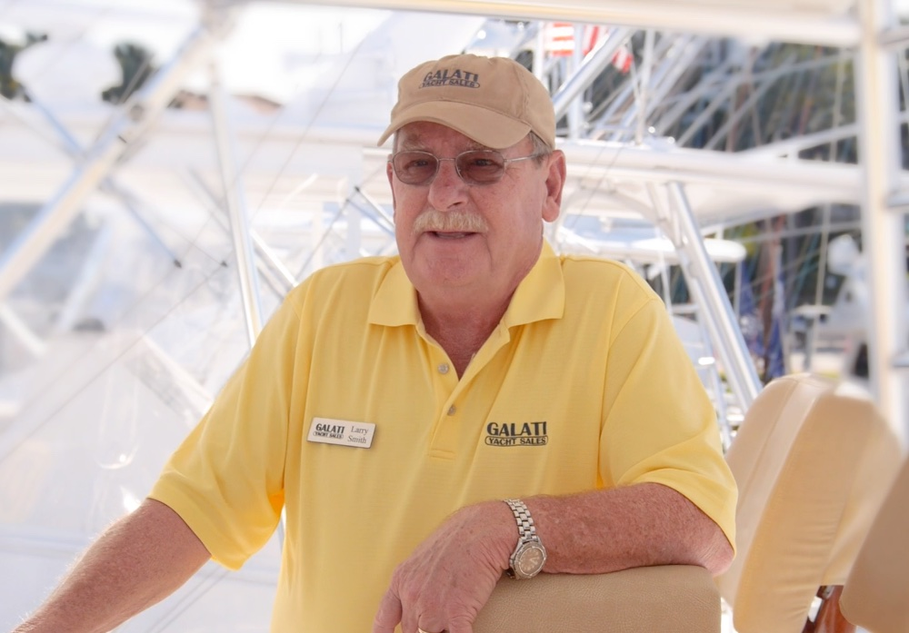 Larry Smith, a Galati sales professional, who specializes in Viking Yachts, maintains a close relationship with customers after the sale. Ed Kukla photo