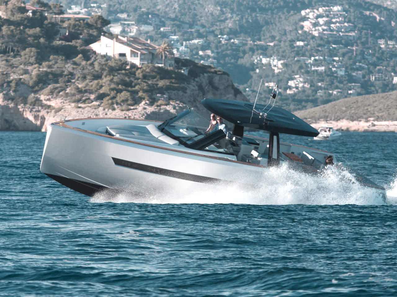 With the Fjord 48 Hanse has positioned itself in the market for upscale powerboats. Photo courtesy of Hanseyachts.