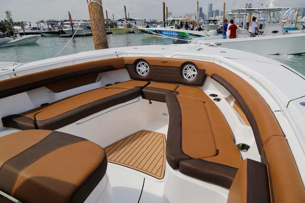 Forward in the bow is where the majority of the relaxation space resides, on the Tidewater 320 CC.