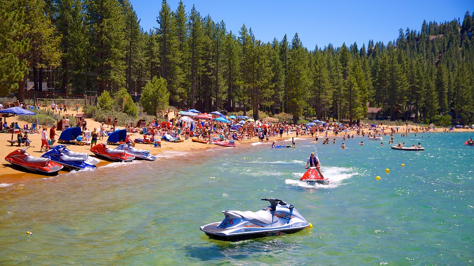 insert caption. Photo Courtesy: Zephyr Cove Tourism Media via Expedia. Zephyr Cove, a small paradise tucked away on Lake Tahoe, is hands down the go-to party cove for those living on West Coast. Photo Courtesy: Zephyr Cove Tourism Media via Expedia.
