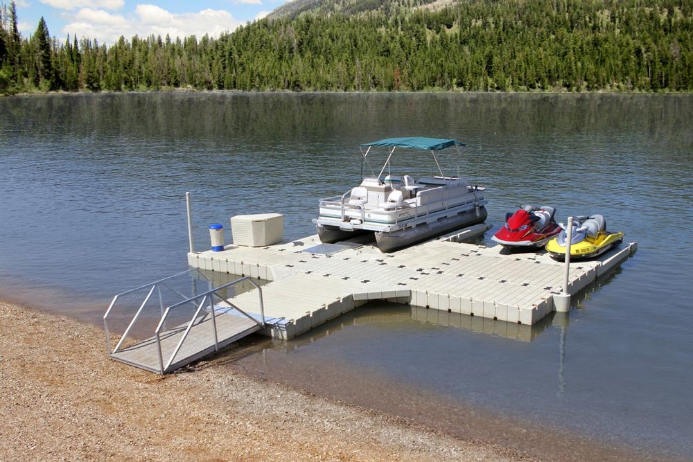 The EZ Dock system can be configured to fit just about any need, from boats to PWCs.