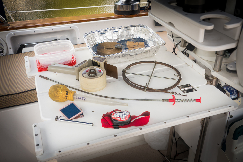 This may not look like the usual contents of a boater's tool bag, but trust us, all of these items will come in quite handy aboard your boat.