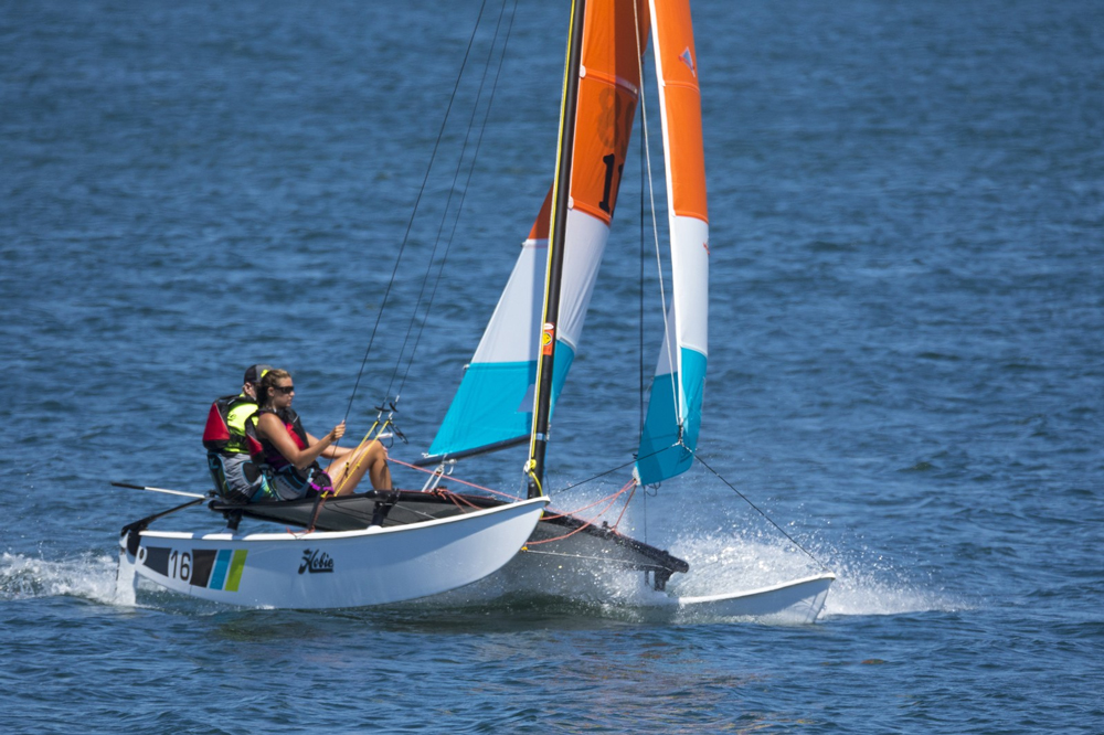 The Hobie cat is famous for fun in the sun—and in the water.