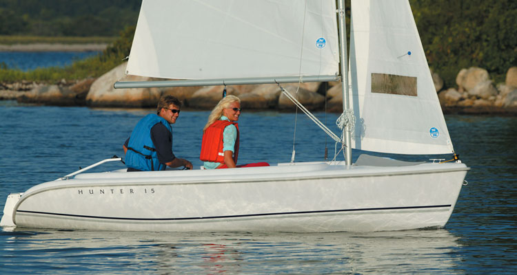 The Hunter 15 is easy to own, and fun to sail.