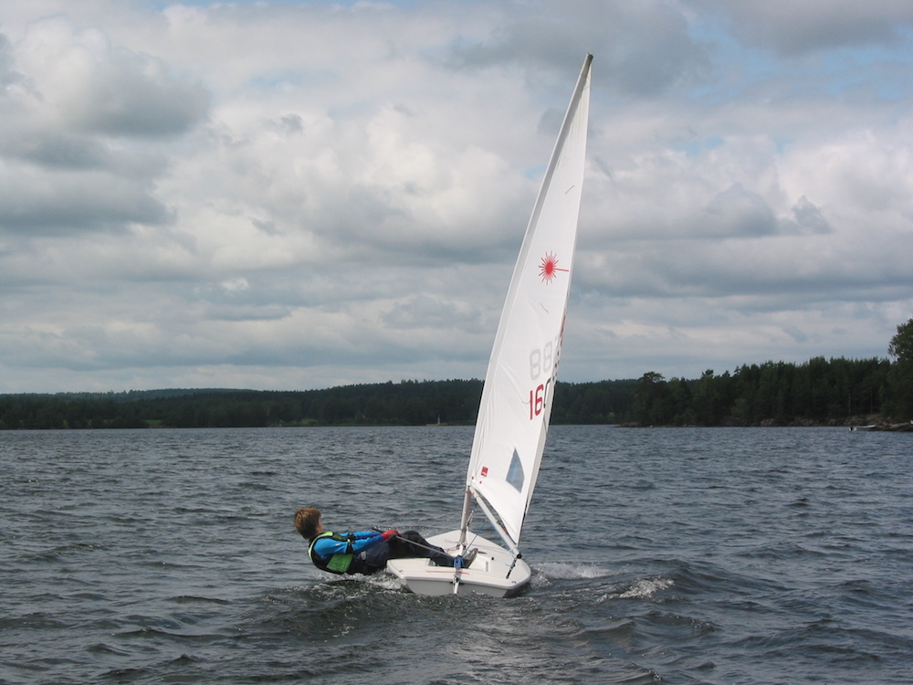 Some daysailers, like this Laser, are raced all across the nation.
