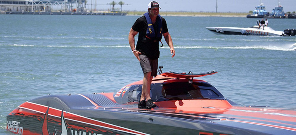 Rusty Rahm will defend his Superboat Unlimited-class 2017 world title in Wake Effects. Photo by Luminetic Media.