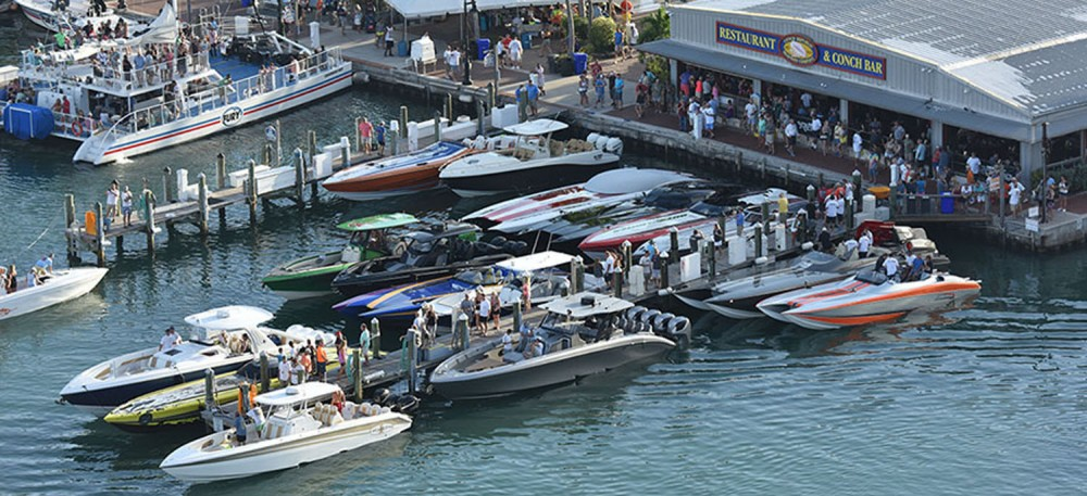 With the Florida Powerboat Club poker run fleet heading to town the FPC Poker Run Village is sure to be a hub of activity. Photo by the Florida Powerboat Club.