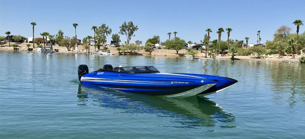 DCB Performance Boat M28R. Photo by Jeff Johnston.