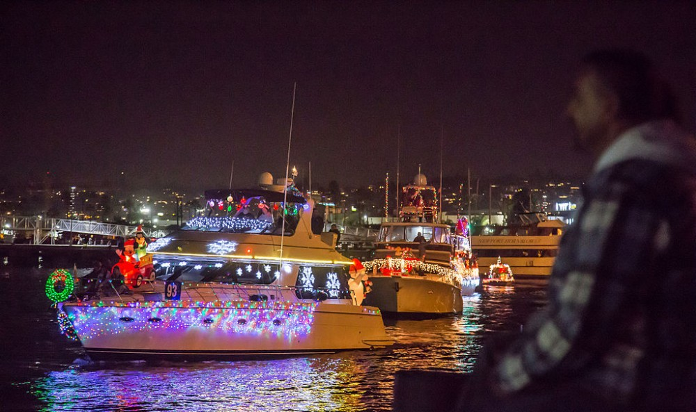 One by one, boat by boat, the parade floats through the marina and lights up the night. All photos by: Tony Webster.
