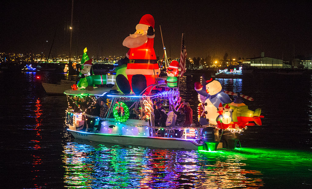 "This Christmas vessel gives a whole new meaning to the nautical term, ""inflatables."" Say hello to Santa Claus, Frosty, and all of their other inflatable friends."