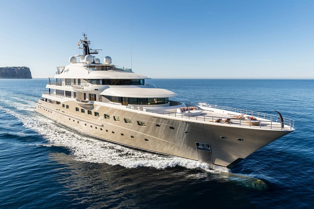 At 272 feet, Here Comes the Sun is the Amels flagship, the largest Amels yacht built to date and the first Amels 272 from the Limited Editions range.