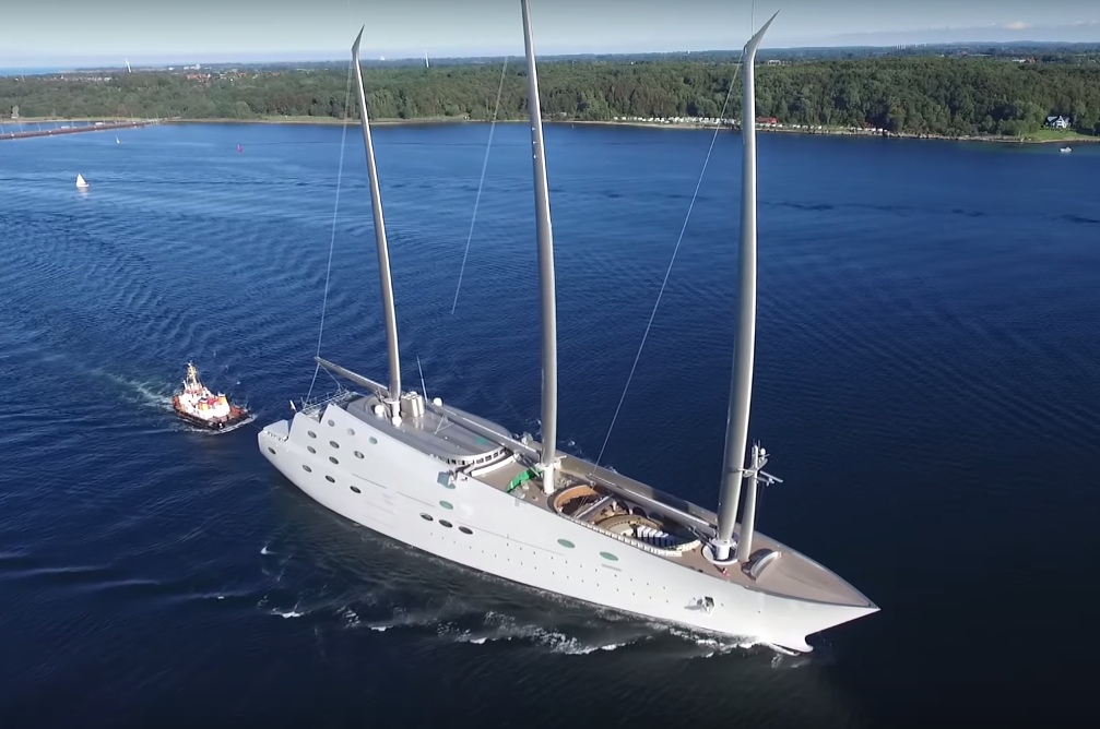 "Megayacht ""A"" Video: Größte private Segelyacht"