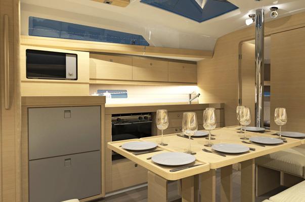dufour 382 gl mehr platz und viele optionen. Black Bedroom Furniture Sets. Home Design Ideas
