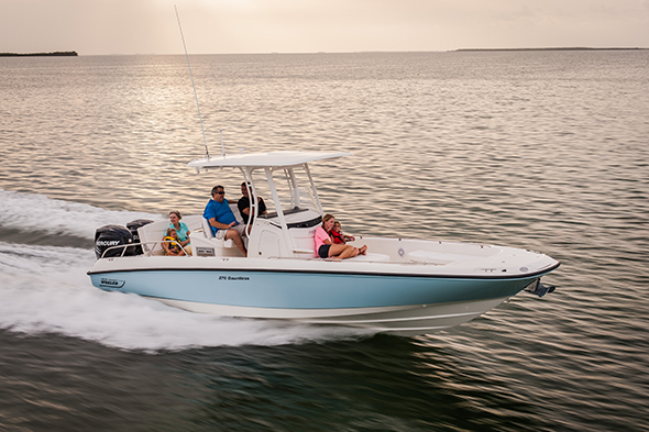 Boston Whaler 270 Dauntless: multitareas XL