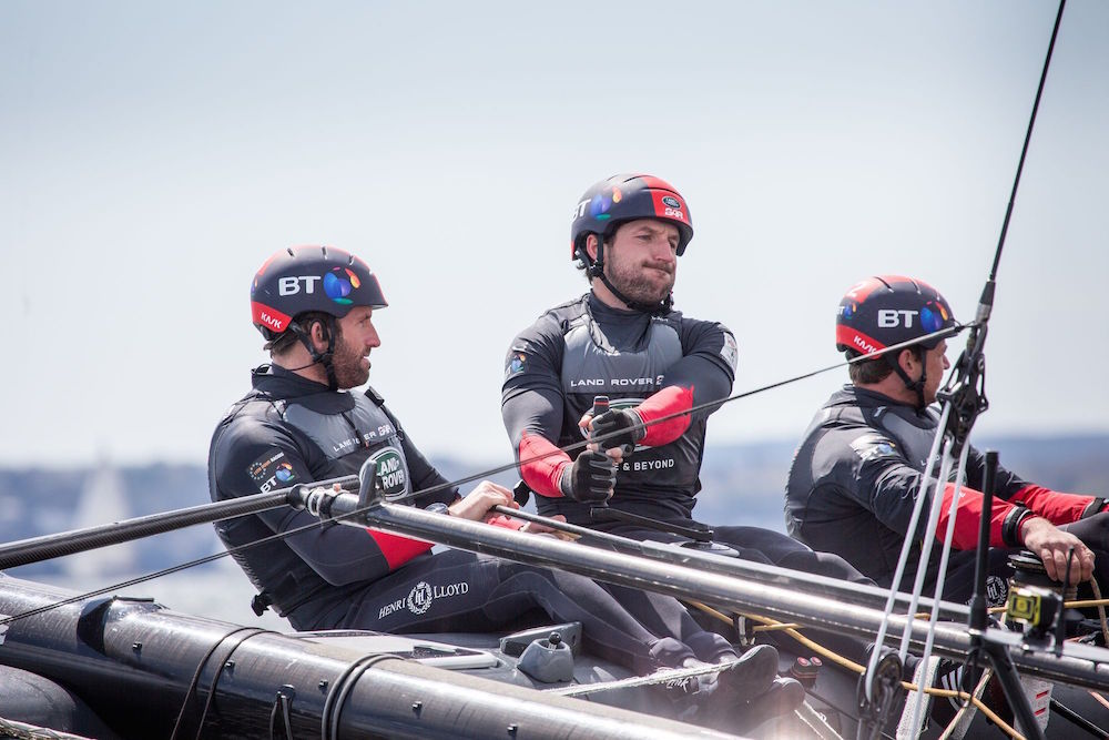 Ben Ainslie y Paul Campbell-James Rover BAR