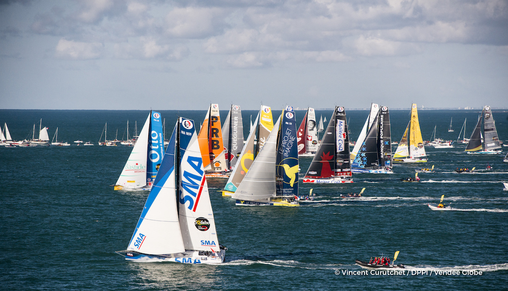 Didac Costa salida VENDEE GLOBE 2016 - START