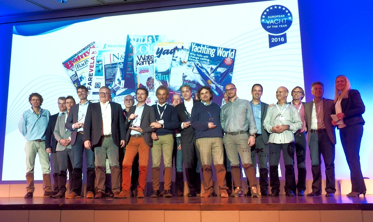 Ganadores premio European Yacht of the Year 2016