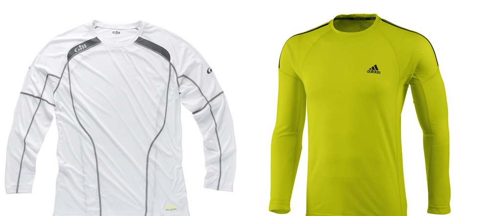 Gill adidas sailing UV proteccion camisetas