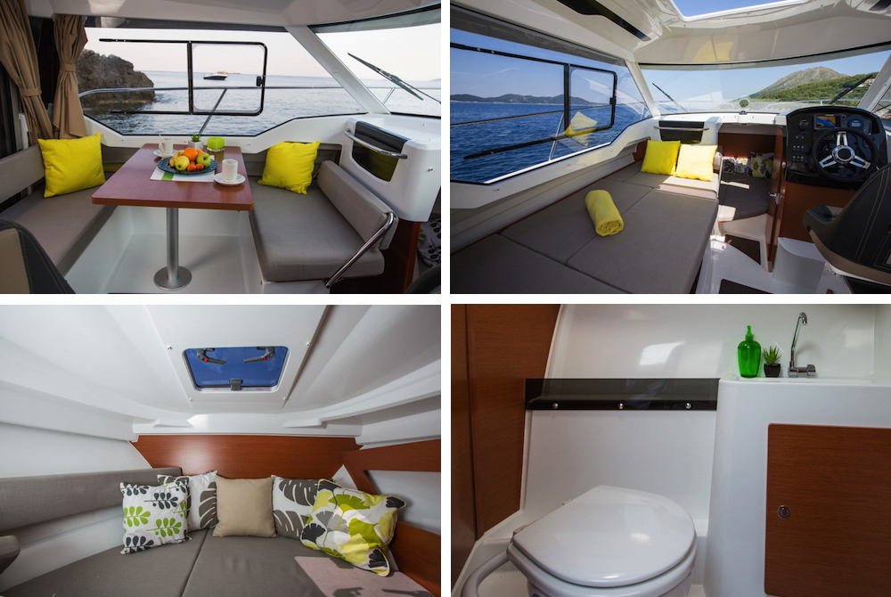 Prueba Jeanneau Merry Fisher 795 interior