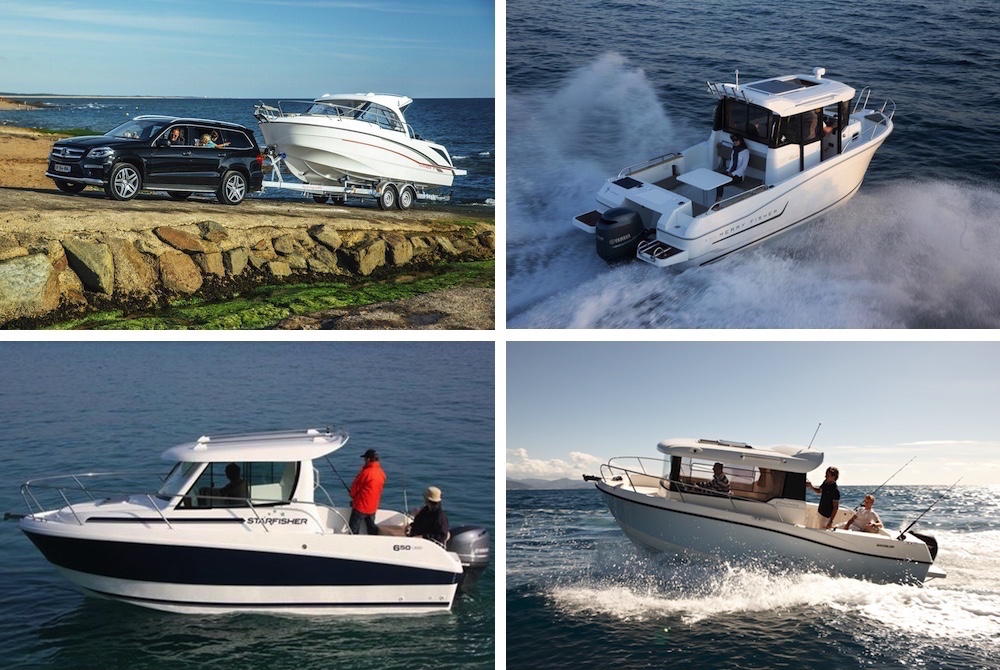 Beneteau Antares 7 OB, Jeanneau Merry Fisher 695 Marlin, Starfisher 650 OBS and Quicksilver 675 Pilothouse.