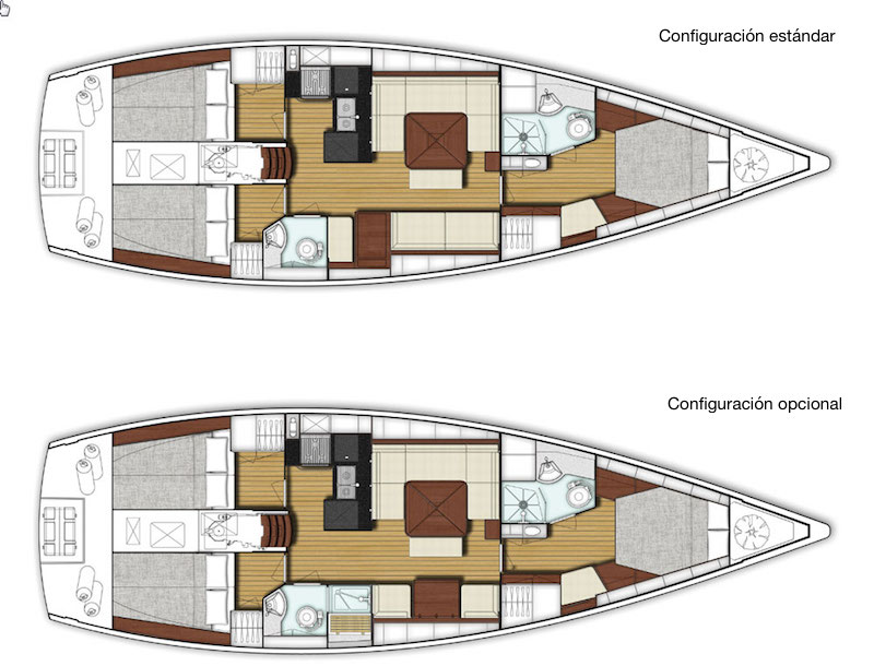 x-yachts Xc 45_disposición