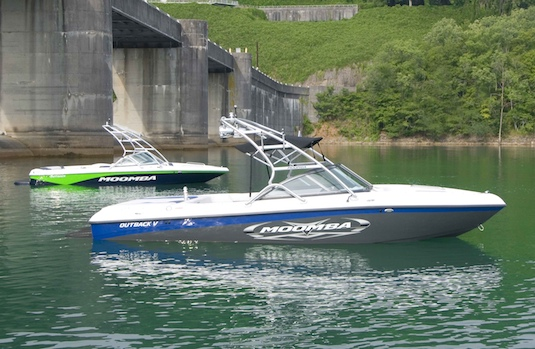 A pair of Moomba's new Outback V models