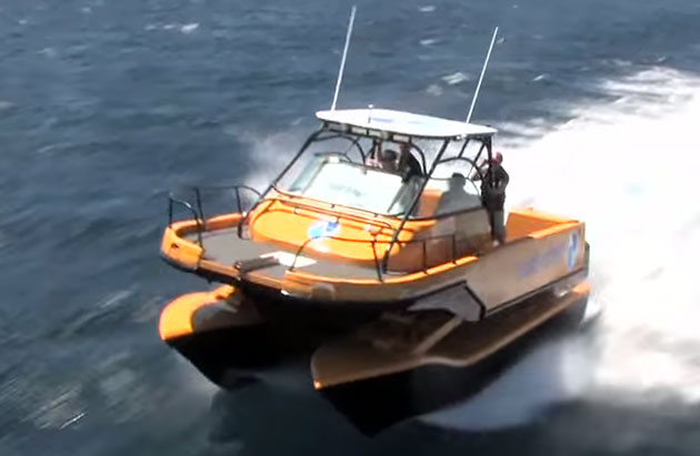 The 2play catamaran gives a soft ride in any conditions.