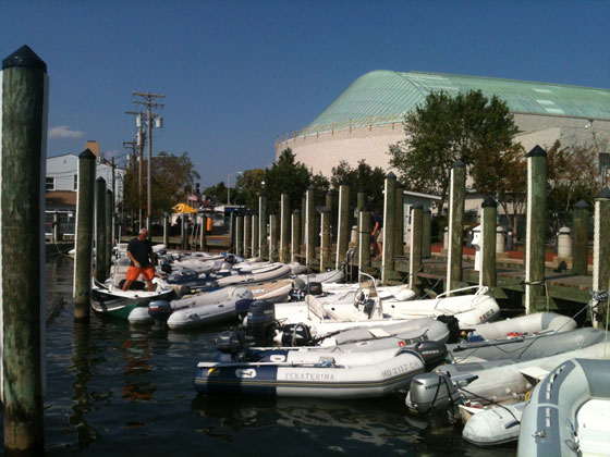 Dinghy Dock at Annapolis boat show